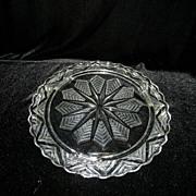 Vintage Chevron or Snowflake Cake Plate