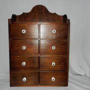 Vintage Wood Spice Cabinet