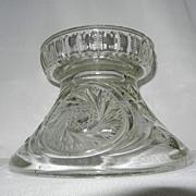 Vintage Hobstar and Pinwheel Design Punch Bowl Base