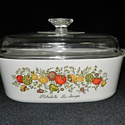 Vintage Corning Ware Spice of Life 4Qt Casserole