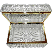 Vintage 1970's Glass Jewelry Box - Red Tag Sale Item
