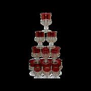 Vintage Indiana Kings Crown Water Glasses