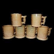 Vintage Whataburger Nickle Coffee Mugs- Slag Glass