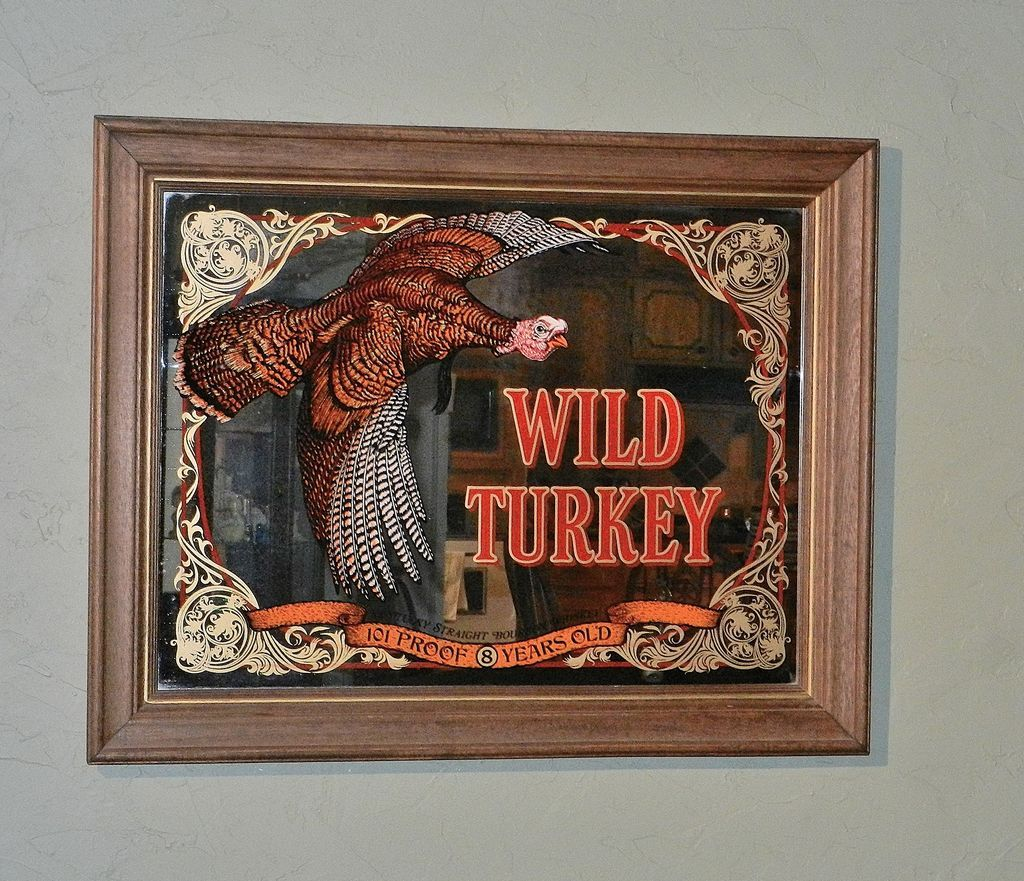 Vintage Large Wild Turkey Mirror Bar Sign Sold On Ruby Lane