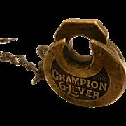 Vintage Miller Pancake Padlock – Champion 6 Lever