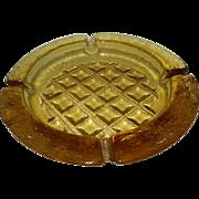 Vintage Large Amber to Yellow Ashtray