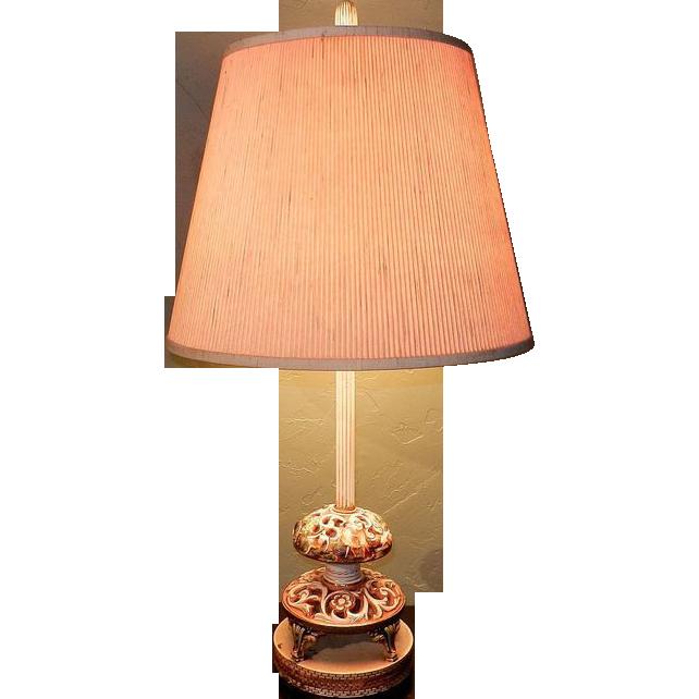 Vintage Capodimonte Table Lamps from mygrandmotherhadone ...