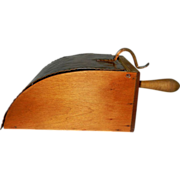 Primitive Wood Kitchen Scoop with Copper Lid