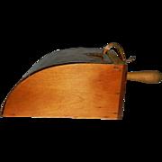 Primitive Wood Kitchen Scoop with Copper Lid