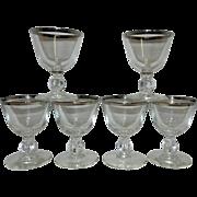 Vintage Libby Silver Rim Stemware
