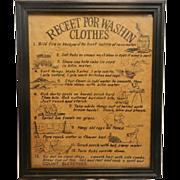 Vintage Folk Art Laundry Poster