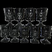 Vintage Noritake Black  Spotlight Ice Tea or Water and Wine Glasses