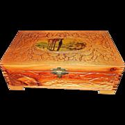 Vintage Decorative Wood Jewelry or Keepsake Box