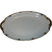 Vintage F-Legrand & Cie China Oval Serving Platter Made in Limoges