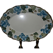 "Vintage Sculptured Grape Poppytrail 14.25"" Platter  by Metlox"
