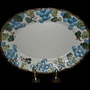 "Vintage Sculptured Grape Poppytrail 12 1/4""  Platter  by Metlox"