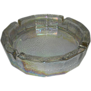 Large Vintage Iridescent Ashtray