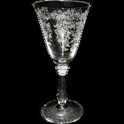 Vintage Fostoria Sceptre Stemware Pattern# 6017 Romance Etched # 341