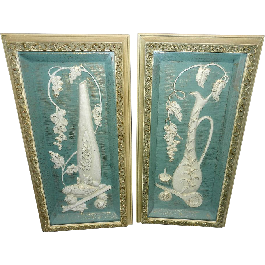 Wichita Falls Furniture Stores Vintage Illinois Moulding Company Mid Century Ceramic Wall Art from ...