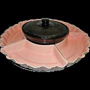 Vintage Mid Century Miramar of California Pottery Lazy Susan