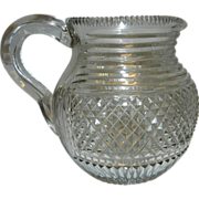 Vintage Cut Glass Milk or Juice Pitcher