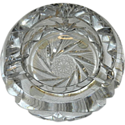 Vintage Cut Crystal Ashtray