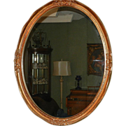Vintage Decorative Gold-Framed Oval Mirror