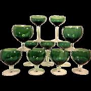 Vintage Green Stemware