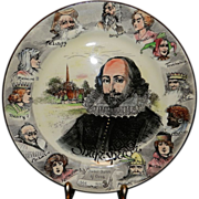 Vintage Royal Doulton Shakespeare's Portrait Plate Pattern #D3194