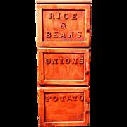 Vintage Folk Art Kitchen Storage Box