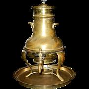 Vintage Copper and Brass Pub Hot Water Dispenser or Samovar Urn