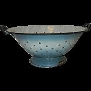 Vintage Primitive Graniteware Colander