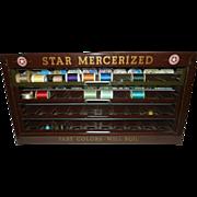 Antique Star Mercerized Metal Thread Display Case -American Thread Company
