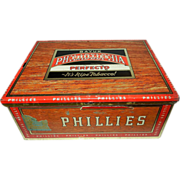Vintage Bayuk Philadelphia Phillies Perfecto 5 Cent Cigar Tin