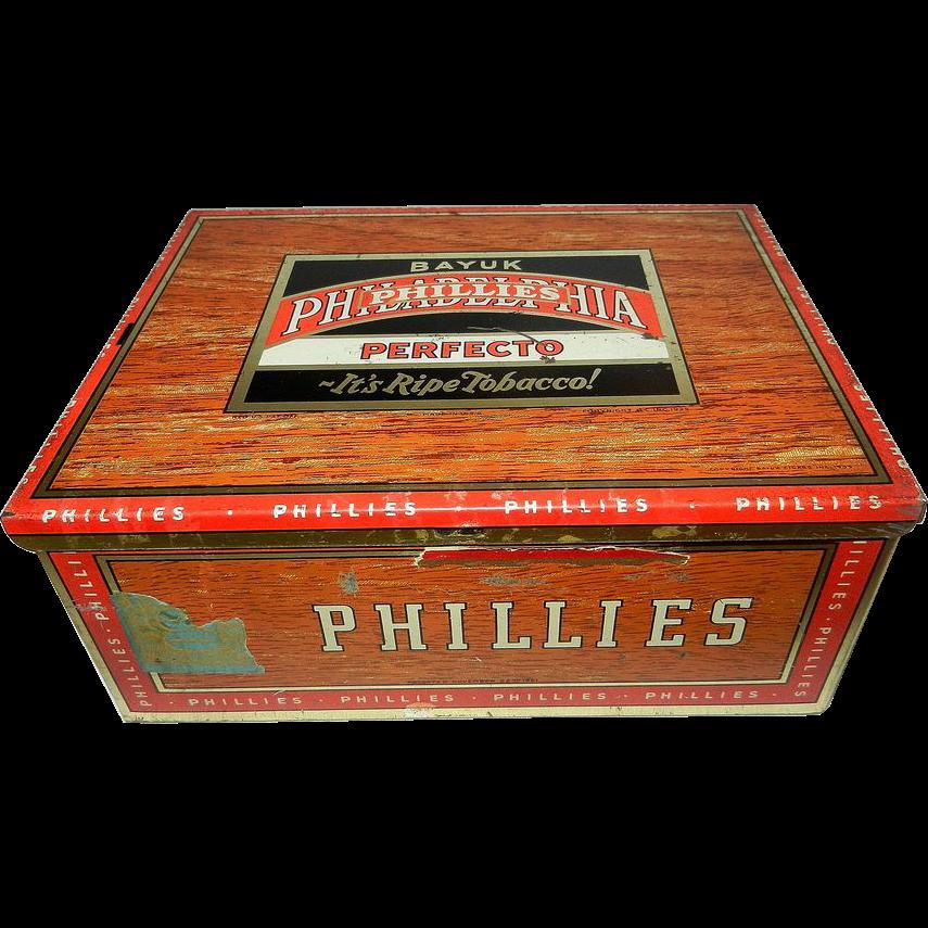 Vintage Bayuk Philadelphia Phillies Perfecto 5 Cent Cigar