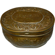Vintage Pozzoni's Brass Powder Box