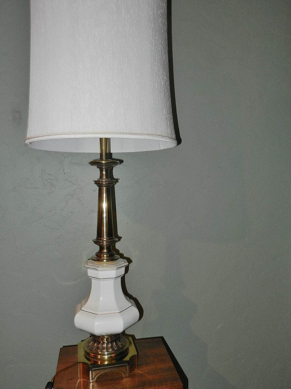 Vintage Stiffel Lamps Porcelain And Brass From