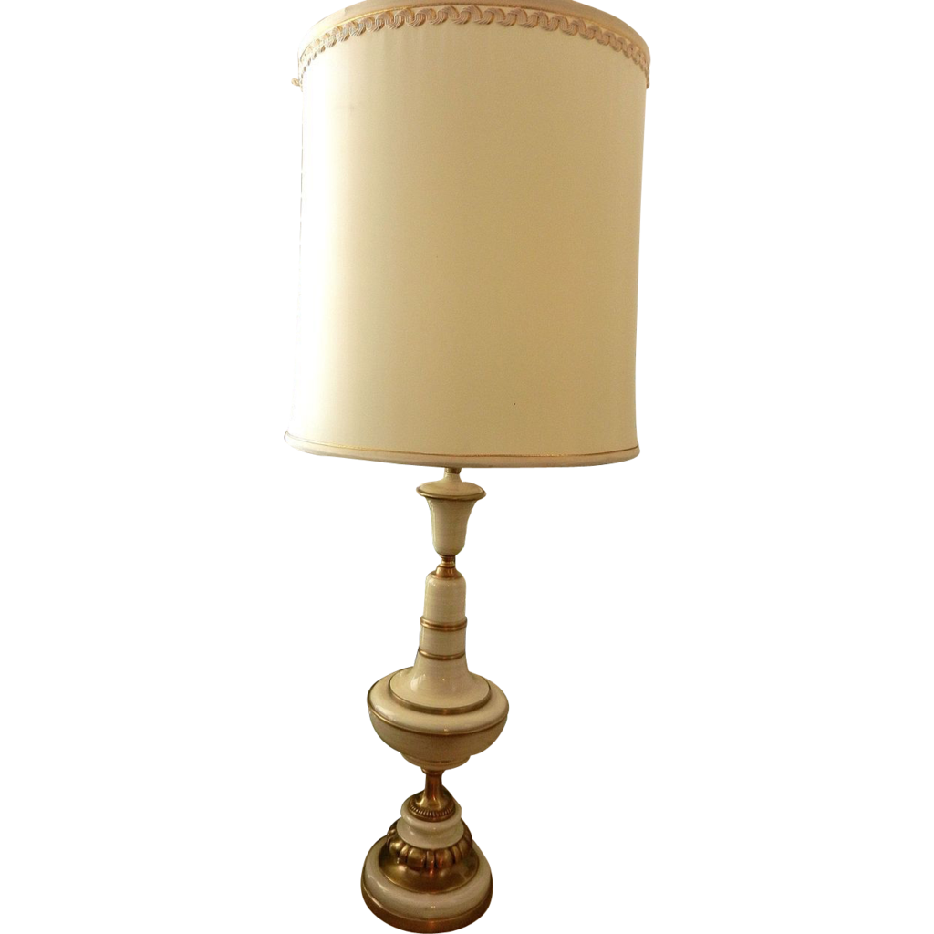 Vintage Rembrandt Brass And Enamel Table Lamps From