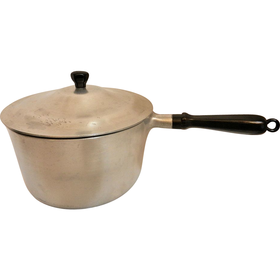 vintage household institute cooking utensils 3 qt aluminum. Black Bedroom Furniture Sets. Home Design Ideas