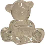 Waterford ABC Crystal Teddy Bear