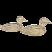Vintage Nachtmann Bleikristall Crystal Ducks