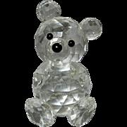Vintage Swarovski Crystal Teddy Bear Figurine