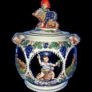 Vintage Gerz 2 Liter Stoneware Figural Cookie Jar