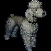 Vintage Lladro Porcelain Glazed Poodle Figurine #1259