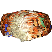 Vintage Pheasant Feather Hat by Lala