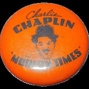 Vintage Charlie Chaplin In Modern Times Pinback Button