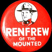 Vintage 1936 Renfrew of The Mounties Pinback Button