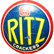 Vintage 1936 National Biscuit Company Ritz Cracker Pinback Button