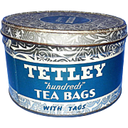 Vintage Round 100 Bag Tetley Tea Tin