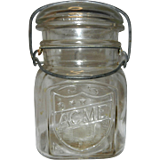 Vintage Acme Fruit Pint Canning Jar